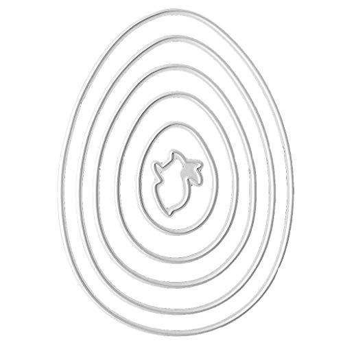 Yfairy fustella in acciaio al carbonio–uova di Pasqua coniglio da taglio set goffratura stencil modelli Mold Paper DIY Art Craft scrapbook libro della decorazione