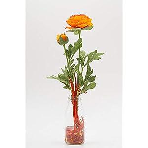 Kleines herbstliches Tischgesteck mit Ranunkeln-Tischdeko mit künstl.Blumen