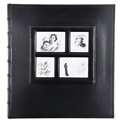 Benjia Fotoalbum zum Selbstgestalten, Vintage Leder Groß Selbstklebend Fotoalben Scrapbook zum Einkleben für Hochzeit Familie 10x15 9x13 13x18 (30 Blätter / 30 Seiten, Schwarz) (10 X 13 Fotoalbum)