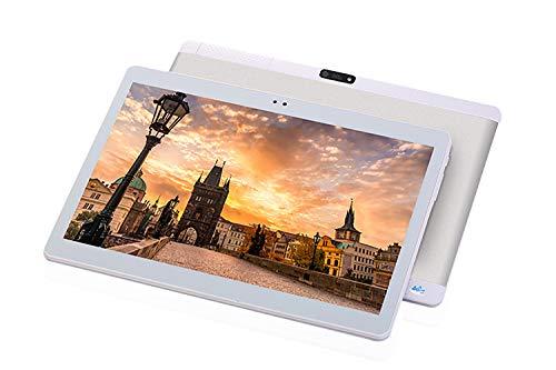 TXVSO 10,1 Zoll Tablet PC Phablet, Google Android 4.4, SIM-Steckplatz für 3G WCDMA/GSM, Quad Core, IPS-Anzeige, 1GB+16GB, 5000mAh, 0,3+2,0MP Dual-Kamera, WLAN, GPS, Bluetooth, Silber (16 Gb 10 Tablet Zoll Google)