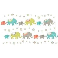 Wallpops Self Adhesive Tag Along Elephants Kit, Multi