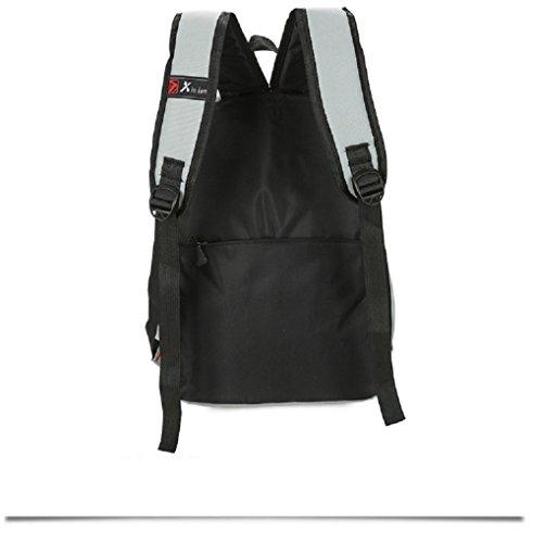 WTUS Damen Lässig Rucksack Mädchen Schulrucksäcke Stylisch Bedruckter Wild Daypacks Tasche Schulranzen Mit Federmäppchen Grau