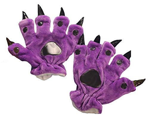 Tier Pfote Handschuhe Unisex Warm Plüsch Cosplay Tiertatzen Cartoon Klaue Halloween Kostüm Erwachsenen Zubehör, ()
