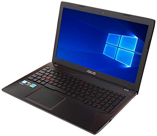 Asus ROG FX553VE-DM354T PC portable Gamer 15,6' Full HD (Intel Core i7, 8 Go de RAM, Disque dur 1 To + SSD 128 Go, Nvidia GeForce GTX 1050 Ti 4G, Windows 10), Noir/rouge