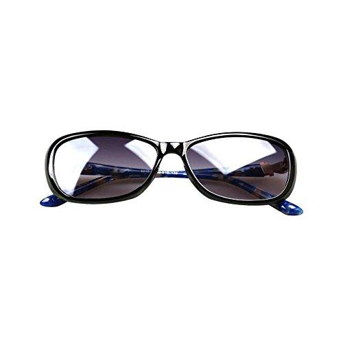 Sonnenbrillen Sonnenbrille Damen Rahmen Sonnenbrille weibliches Gesicht Gezeiten Diamant-Retro Anti-ultravioletter Schütze Deine Augen (Farbe : B)