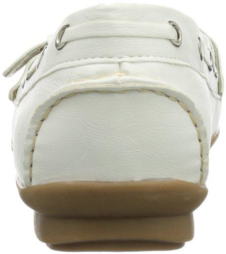 Andrea Conti  0873010, Mocassins pour femme Blanc - Weiß (weiß 001)