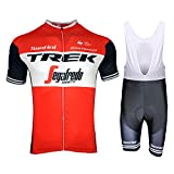 Thriller Rider Sports MTB Mountain Bike Abbigliamento 2019 Uomo MN9022C Ciclismo Maglietta Manica Corta e Strap Pantaloncini Completo X-Large