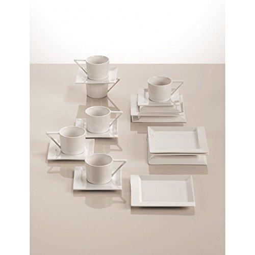 Kaffeeset Maxwell & Williams ZiiZ 18-tlg weiß Porzellan