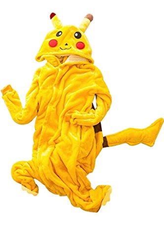 Kigurumi Pajamas Pikachu Schlafanzüge Unisex Erwachsene Anzug Cosplay Kostüm (Erwachsene Pikachu Kostüme)