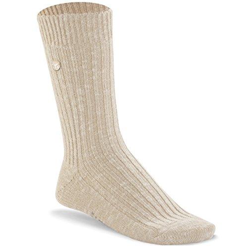 BIRKENSTOCK Weiblich Fashion Slub Socken, Beige White (1002437), 39/41 EU