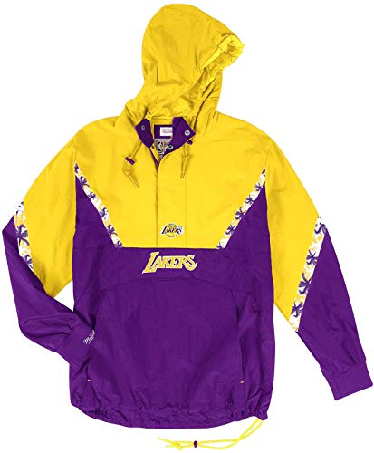 Mitchell & Ness NBA Half Zip Team Colour Anorak Los Angeles Lakers Purple/Yellow (M)