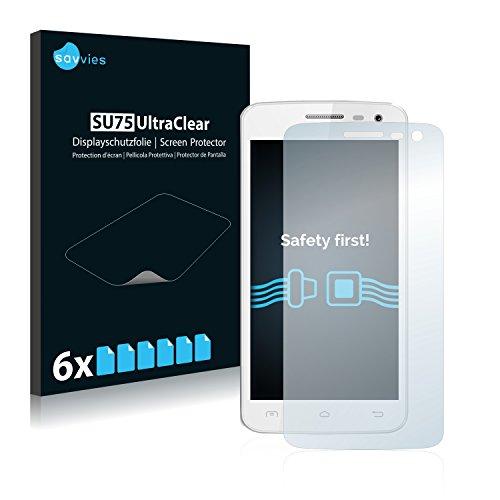 Savvies Schutzfolie für Elephone G3 [6er Pack] - klarer Bildschirmschutz