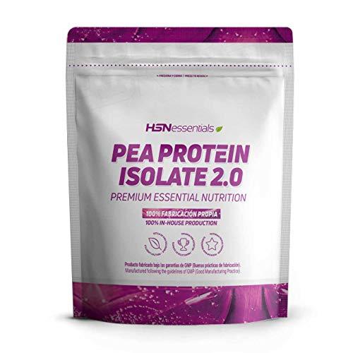 HSN Essentials - Proteína de Guisante Aislada, Apta para Veganos y Vegetarianos, con Sabor Vainilla - 2000 gr