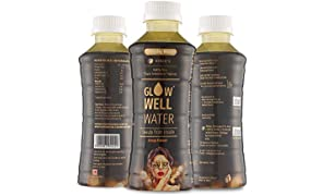 GlowWell Water 100% Natural Antioxidant Rich Anti-Aging Skin Nourishment Water Drink - Low Calories, Zero Sugar | Case of 6, 200 ml Bottles
