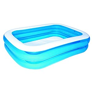 Bestway 54005 – Piscina Hinchable Infantil Blue Rectangular 201x150x51 cm