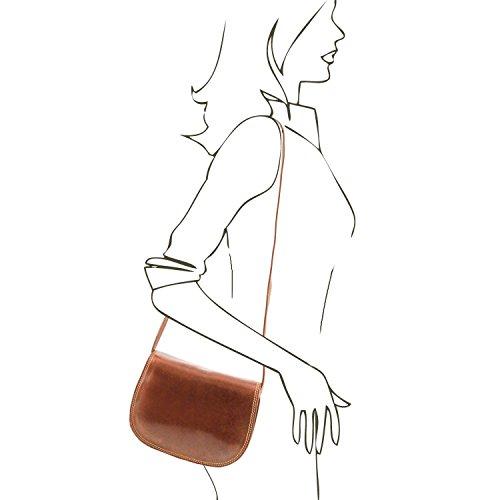 Tuscany Leather - Isabella - Borsa in pelle da donna Nero - TL9031/2 Marrone