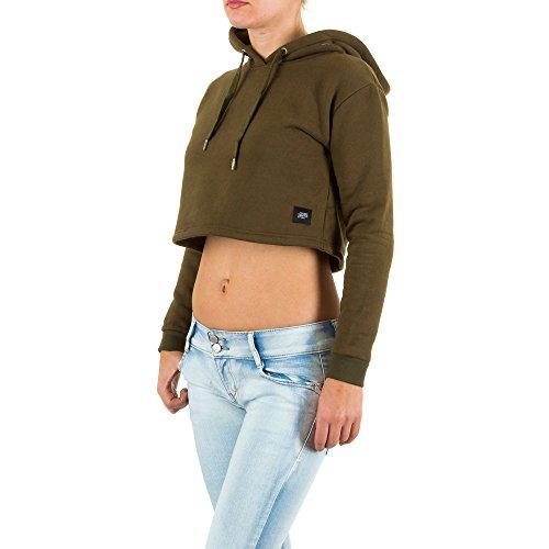 Damen Sweatshirt, SIXTH JUNE CROP SWEATSHIRT, KL-W2014KSW Grün
