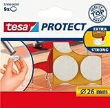 tesa® Filzgleiter Protect®/ 57894-00000-00, Ø 26 mm, weiß, rund Inh. 9