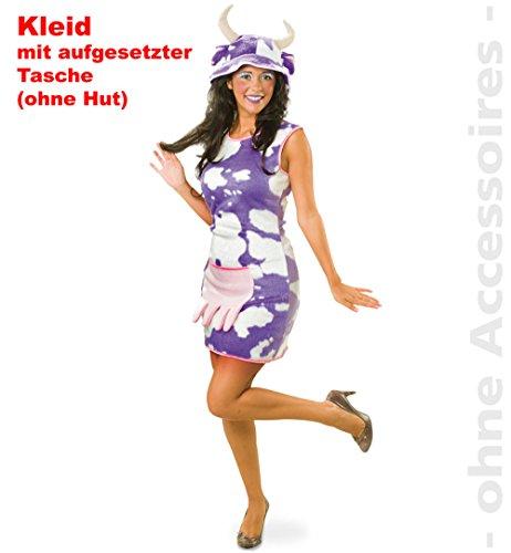 Kuh Leni Kleid Damen Kleid Kostüm Fasching Gr. 36 - 44 (Kurze Bauer Kleider Für Frauen)