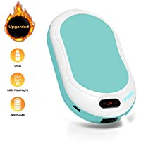 U-MISS Rechargeable Hand Warmers, 6000mAh Electric Portable Pocket Hand Warmer/Power Bank