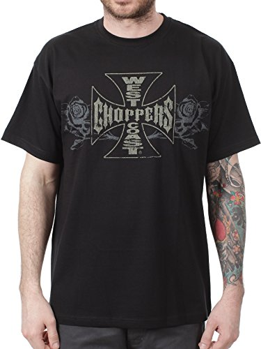 T-Shirt West Coast Choppers Surry Rose Solid Nero (S , Nero)
