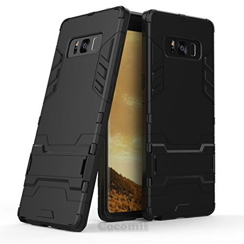 Preisvergleich Produktbild Galaxy Note 8 Hülle,  Cocomii Iron Man Armor NEW [Heavy Duty] Premium Tactical Grip Kickstand Shockproof Hard Bumper Shell [Military Defender] Full Body Dual Layer Rugged Cover Case Schutzhülle For Samsung N950 (I.Jet Black)
