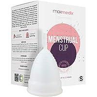 Copa Menstrual Talla S - Silicona de Grado Medicinal Suave, Flexible y Reutilizable, Higiene Intima Femenina, Incluye Bolsa de Regalo, Alternativa Compresas Tampones - Sin BPA ni Colorante