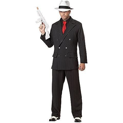 Costume da gangster per uomo Taille (Nero Gessato Camicia)