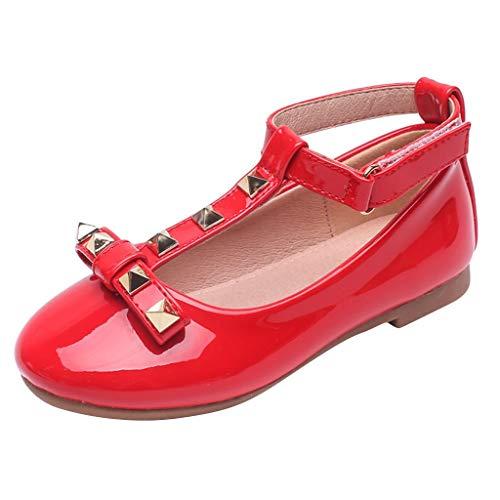 Girs Licht Schuhe Jungen Soft Luminous Outdoor Sport Sandalen Outdoorschuhe Canvas Sneaker Krabbelschuhe(Rot,30EU) ()