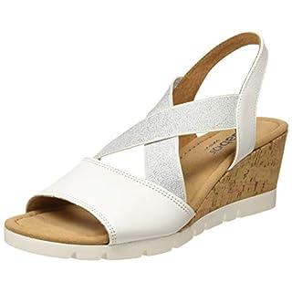 Gabor Shoes Damen Comfort Sport Riemchensandalen, Weiss (Kork) 50, 44 EU