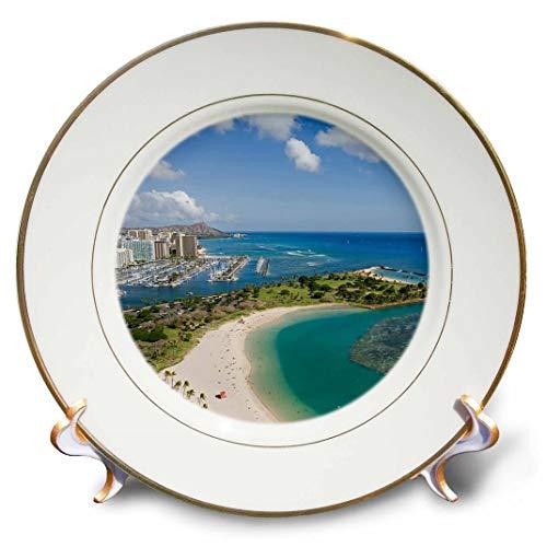 3dRose CP 89601_ 1ALA Moana, Honolulu, hawaii-us12dpb0486-douglas Peebles-Porcelain, 20,3cm