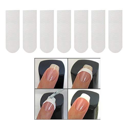 hahuha Schönheit Nail Art Tip Französisch Guide Moon Striping Tape Dekoration Linie Aufkleber 10er Pack -