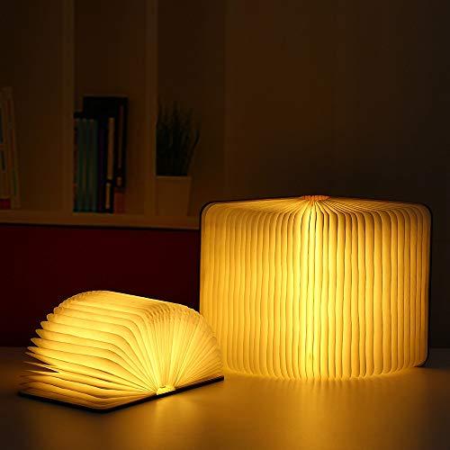 6 Vanity Bar Licht (Mode LED Creative Book Light Neues Seltsames Retro Nachtlicht USB-Lade-Atmosphäre Schlafzimmer Nachttischlampe Kann 360 ° Flip DREI Farben Lichtquelle Originalität)