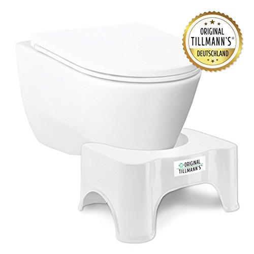 Toilettenhocker | WC Hocker | WC Sitz Hocker | Hilfsmittel gegen Verstopfung, Hämorrhoiden,...