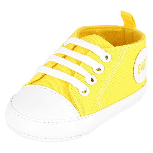 KREXUS Krabbelschuhe Baby Sneaker Gelb Gr. 0-6 Monate XB01407_0