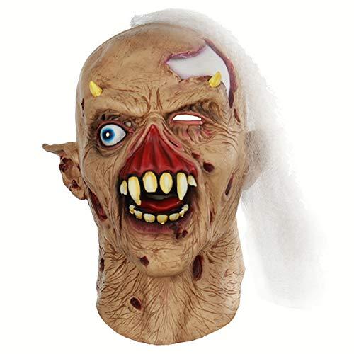 Zombie Nicht Beängstigend Kostüm - KGAYUC Maske, Geistermasken, Zombie Maske, Kostüm Requisiten Spielzeug Beängstigend, Cosplay Monster Horror Gummi Maske, Halloween Cosplay, Sehr Natürlich Realistisch, Horror Latex Masken
