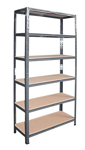 shelfplaza® HOME Étagère charge lourde métallique anthracite de 200x120x30 cm avec 6 tablettes - entrepôts garage grenier atelier maison