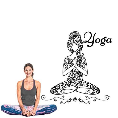 Wandaufkleber Kinderzimmer Buddha yoga mädchen namaste yoga mandala diy wohnzimmer yoga raumdekor für yoga studio