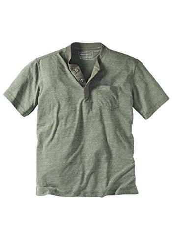 Eddie Bauer Herren Henley-Shirt Grün Meliert