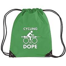 T-Shirtshock - Mochila Budget Gymsac FUN0112 05 14 2013 Cycling Is Dope T SHIRT det