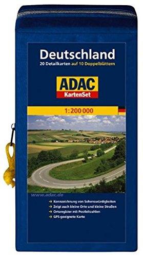 Preisvergleich Produktbild ADAC StraßenKarte Deutschland in Kartentasche