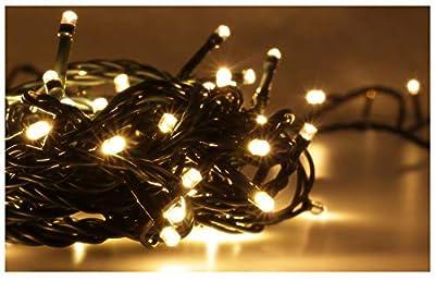 LED Universum WBLWW1065 LED Lichterkette warmweiß mit 100 LEDs (Länge: 10 Meter, für innen und außen, IP65)