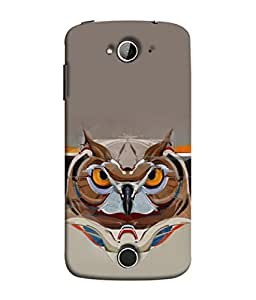 FUSON Designer Back Case Cover for Acer Liquid Z530 :: Acer Liquid Zade Z530S (Multicolour Owl Perfect Look King Bird Night Tree )