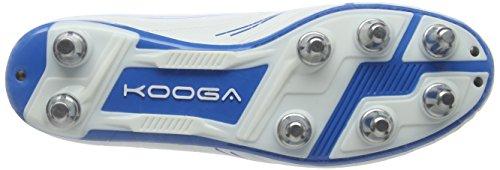 Kooga Warrior 2, Chaussures de Rugby Homme Blanc (White/Blue)