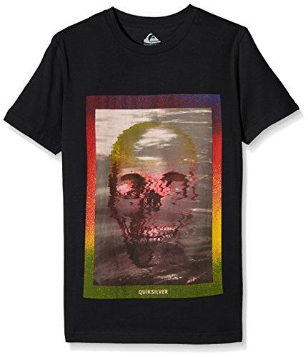 Quiksilver - T-Shirt da ragazzo, motivo: teschio, colore: acid Yth, Ragazzo, Skull Acid Yth B Tees, grigio, 12 anni