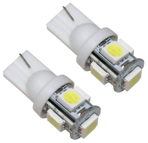 Aerzetix 3800946165330 Ampoules T10 W5W 12 V à 5 LED SMD, Blanc, Set de 2