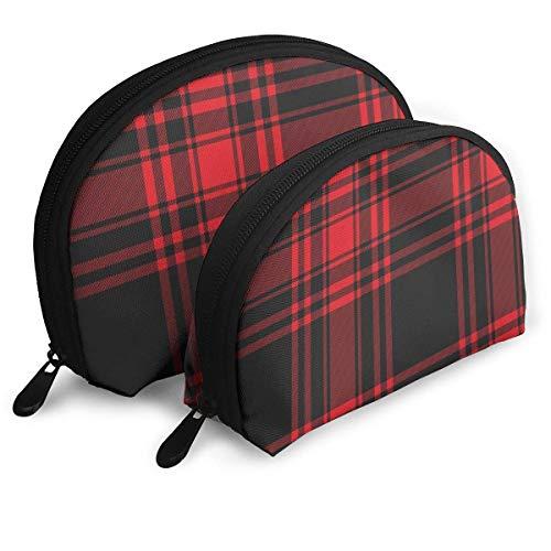 5063c78ff9 Borsa per cosmetici Black And Red Plaid Toiletry Make Up Bag Bathroom  Organizer Travel Case 2
