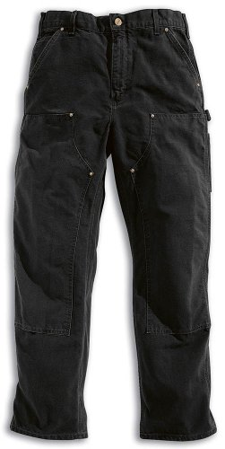carhartt-workwear-hose-washed-duck-work-dungaree-arbeitshose-grosse-36-32-schwarz-eb136