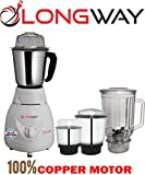 LONGWAY® Pluto Super 650 WATT 4 JAR Mixer Grinder Poweful Copper Motor with 12 Month Warranty