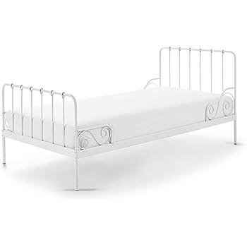 a9bec2783b Vipack Alice Liegefläche 90 x 200 cm weiß Metallbett, Einzelbett,  Kinderbett, Jugendbett,
